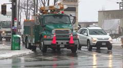 Toronto hydro crews working to restore power Stock Footage