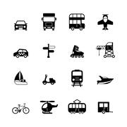 Transportation pictograms collection Stock Illustration