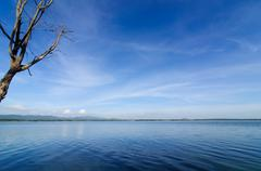 reservoir in the bang phra - stock photo