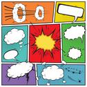 Stock Illustration of comic speech bubbles