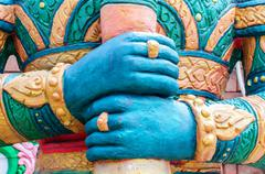 hand of giant statues - stock photo