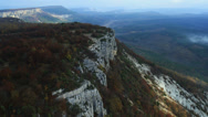 Stock Video Footage of Aerial View: Mountain plateau of Burunchak, near Bakhchisaray. Crimea