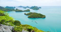 View of ang thong national park island Stock Photos
