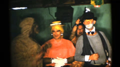60's  vintage, Adult Halloween Party - stock footage