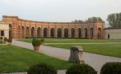 Stock Photo of well-kept garden of palazzo te in mantua in italy