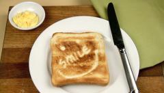 Smile Toast For Breakfast Stock Footage