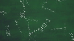 Math/Physics equation with blackboard background - Seamless looping Stock Footage