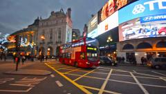 Commuters and trafic at piccadilly circus Stock Footage