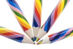 Colored crayon Stock Photos