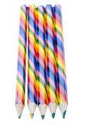 Colored crayon macro Stock Photos