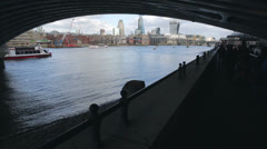 London skyline with passage underground Stock Footage