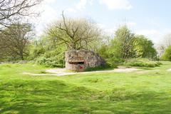 Bunker pillbox great world war 1 flanders belgium Stock Photos