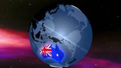 4K Australia Globe Zoom In v2 1 Stock Footage