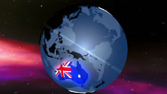 Stock Video Footage of 4K Australia Globe Zoom In v2 1