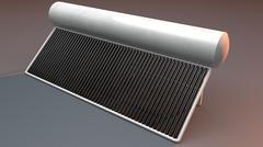 Solar Water Heater 3D - 3D model