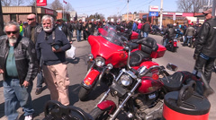 Port dover Friday th 13th biker event Stock Footage