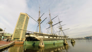 Stock Video Footage of Baltimore Historic Ship USS Constellation UHD