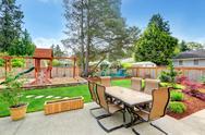 Stock Photo of backyard  view