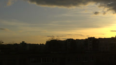 Evening clouds over the city  5 Stock Footage