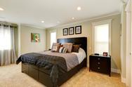 Stock Photo of elegant black bedroom furniture set