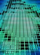 abstract matrix background. - stock illustration