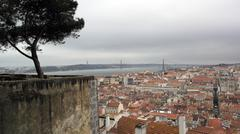 View over lisbon, the capital city of portugal Stock Photos