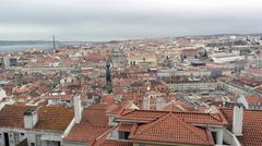 Stock Photo of view over lisbon, the capital city of portugal