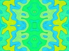 symmetrical abstract multicolored background. - stock illustration