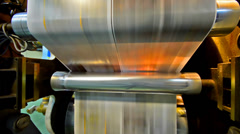 Newspaper printing press machine seamless loop Stock Footage