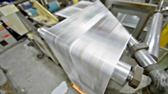 News print factory - stock video. newspapers being carried to folding and sti Stock Footage