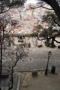 view over lisbon, the capital city of portugal - stock photo