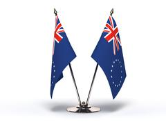 miniature flag of cook islands - stock illustration