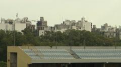 Long pan of Estadio Centenario Stock Footage