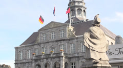 Maastricht city hall Stock Footage