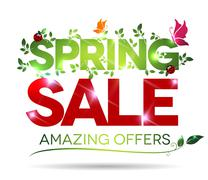 spring sale, amazing offers - stock illustration