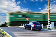 Stock Photo of Rail crossing