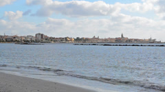 Alghero foreshore - stock footage