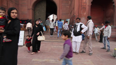 Muslims in India prepare to pray - stock footage