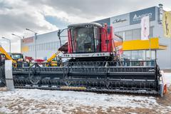 Agricultural machinery exhibition. Tyumen. Russia - stock photo