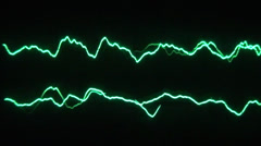 Low frequency on a two channel oscilloscope 02 Stock Footage