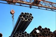 Stock Photo of metal pipes