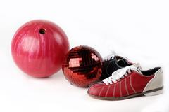Ball in the bowling alley Stock Photos