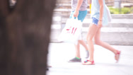 Stock Video Footage of young adult couple walking