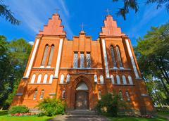 the old church in lithuania - stock photo