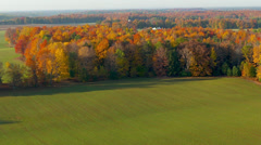 Farmland Aerial in Michigan countryside. Stock Footage