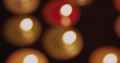 Rightward Panning Candle Bokeh Stock Footage