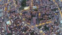 High altitude Istanbul view - stock footage