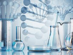 laboratory glassware - stock illustration