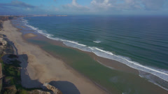 AERIAL: Exotich beach in sunny Portugal Stock Footage