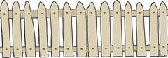 Isolated wooden fence Stock Illustration